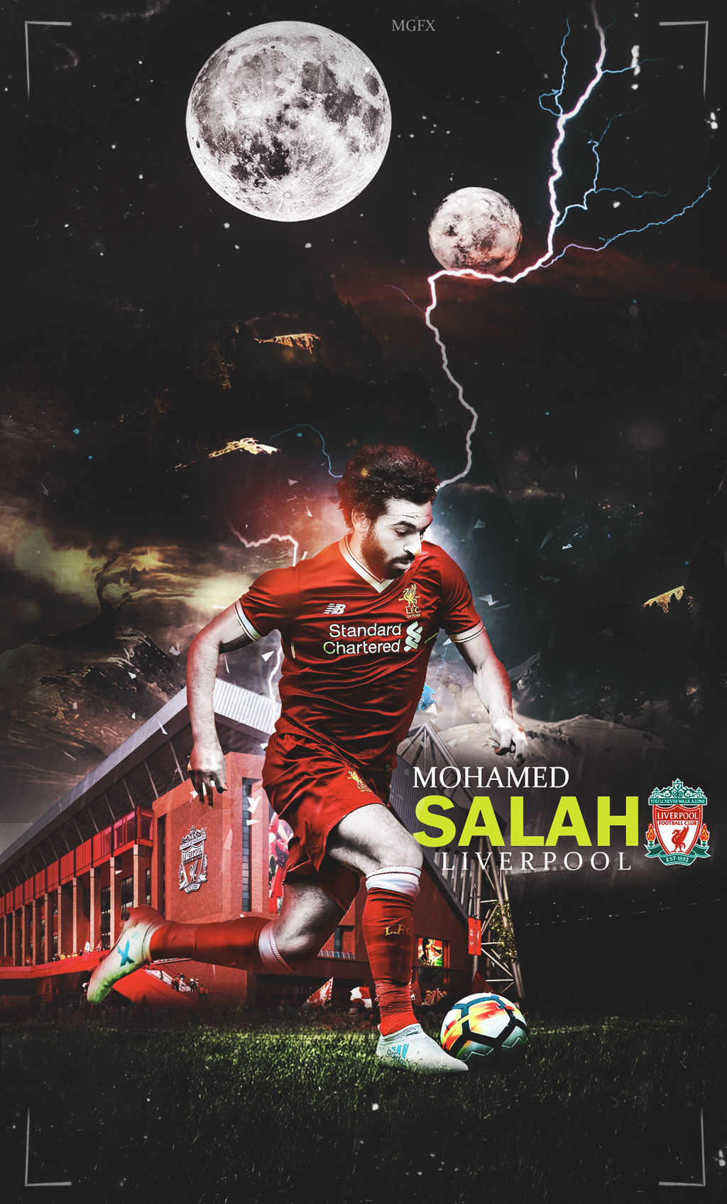 Mo Salah Wallpaper Liverpool M Phone 2018 17 By 10mohamedmahmoud On Deviantart