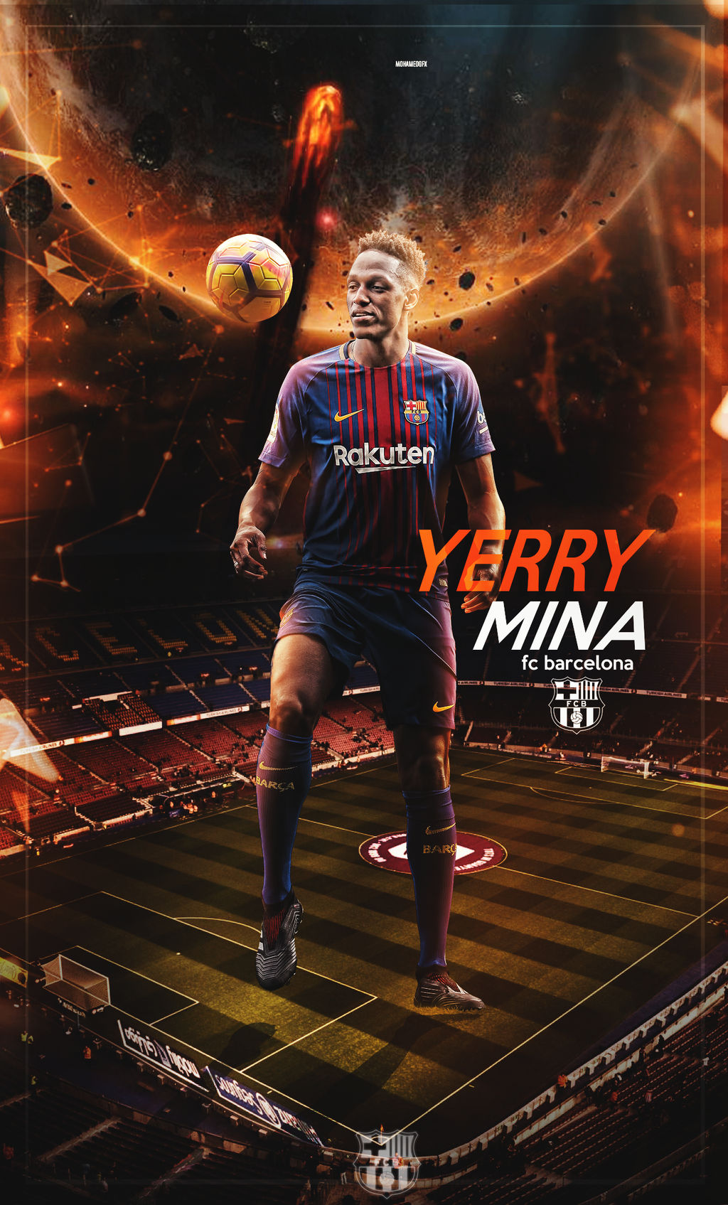 Yerry Mina To Barca Wallpaper Mobile Phone By 10mohamedmahmoud On Deviantart