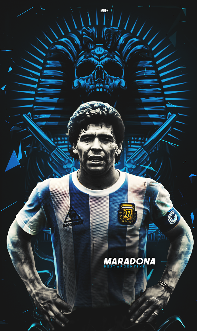 maradona wallpaper lockscreen argentine by 10mohamedmahmoud