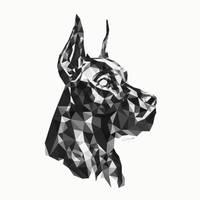 Alpha Dog by Great Dane Low Poly by Mindsparker