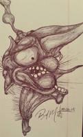 Ballpoint Pen Sketch #4 10.6.15 by Mindsparker