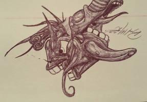 Ballpoint Pen Sketch #5 10.08.15 by Mindsparker