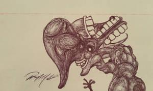 Ballpoint Pen Sketch #7 10.14.15 by Mindsparker