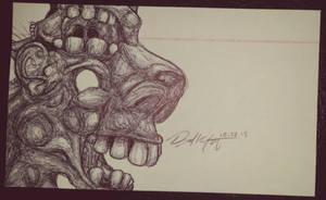 Ballpoint Pen Sketch #8 10.22.15 by Mindsparker