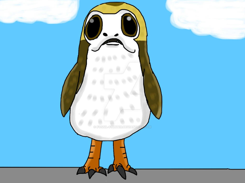 Porg by fossil-fighter