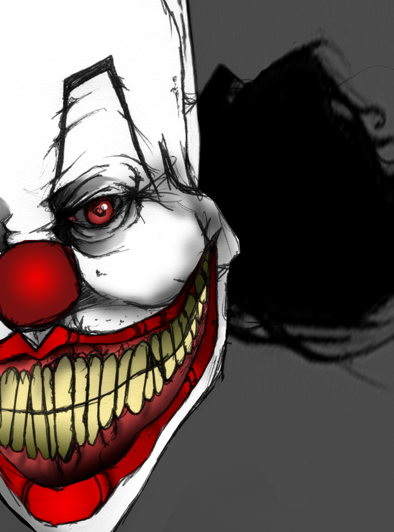Clown close up by burn-alive