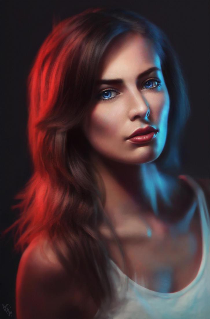 One light fashion portrait photography tutorial 74