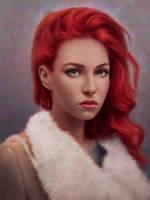 Female Portrait Study 23 Day #114 by AngelGanev