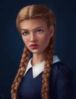 Female Portrait Study 30 Day #121 by AngelGanev