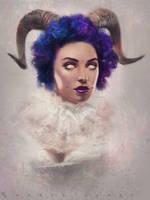 Stylized Portrait 1 Day #141 by AngelGanev