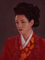 Geisha Painting 4 Day #256 by AngelGanev