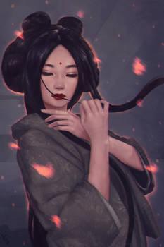 Geisha Painting 5 Day #257