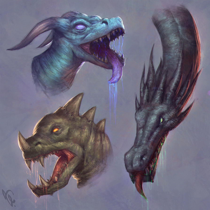 Dragon Heads 5 Day #26 by AngelGanev