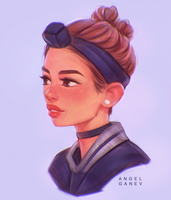Leia - Day #118 by AngelGanev