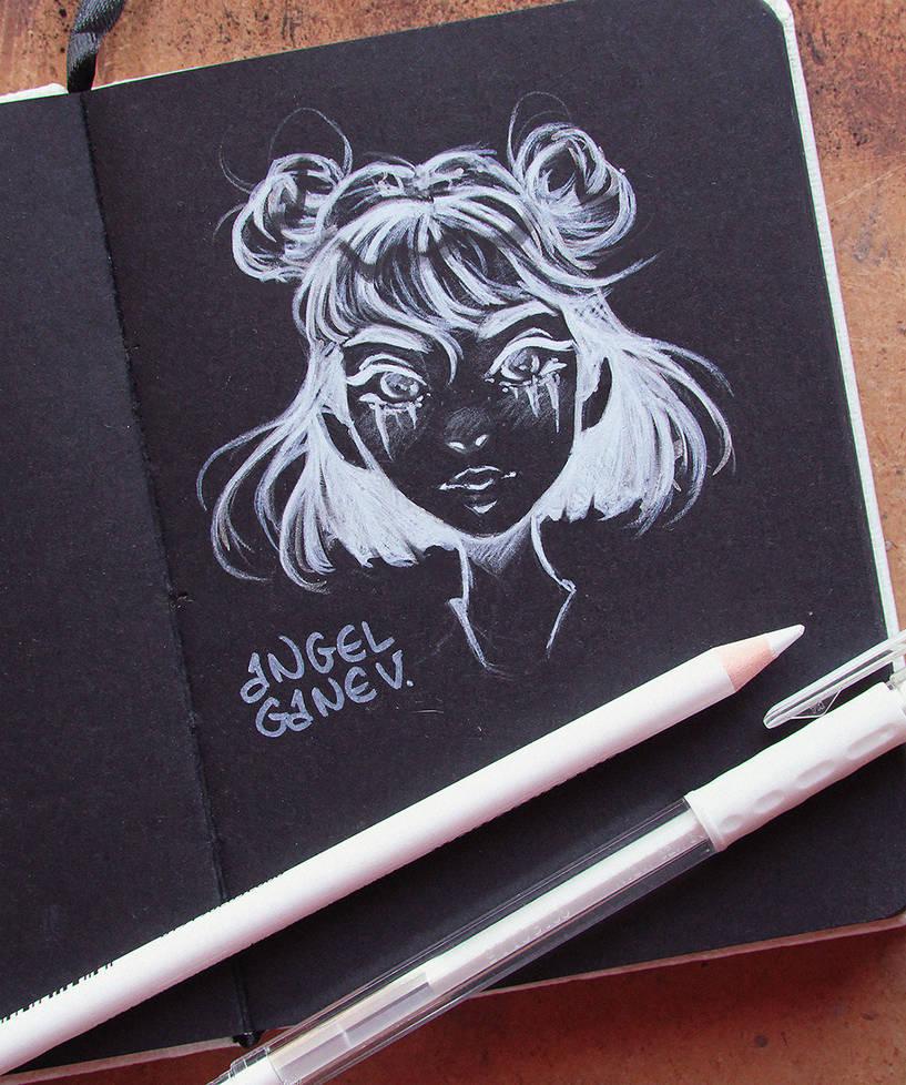 Black Sketchbook Page 1 by AngelGanev