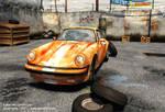 3D Lowpoly Porche 911