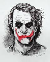Joker - Heath Ledger by kabirtalib