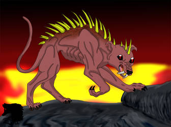 Chupacabra from Hell by LeonLover