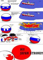 Polandball: Russo-Japanese War by KrovMalenkov