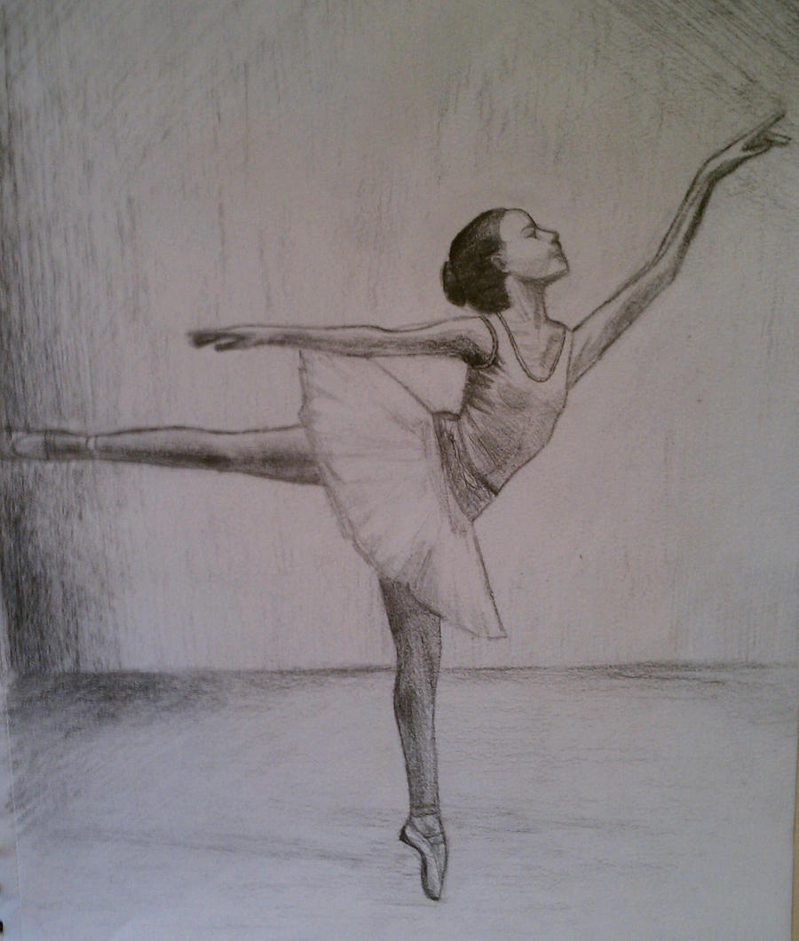 ballerina pencil drawing - photo #44