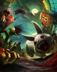 Zombie Bunnies by Ry-Spirit