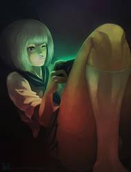 The Gamer Girl by Ry-Spirit