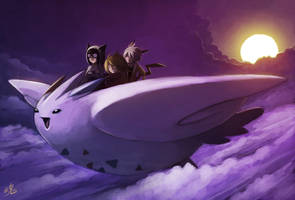 Soaring through the Clouds by Ry-Spirit