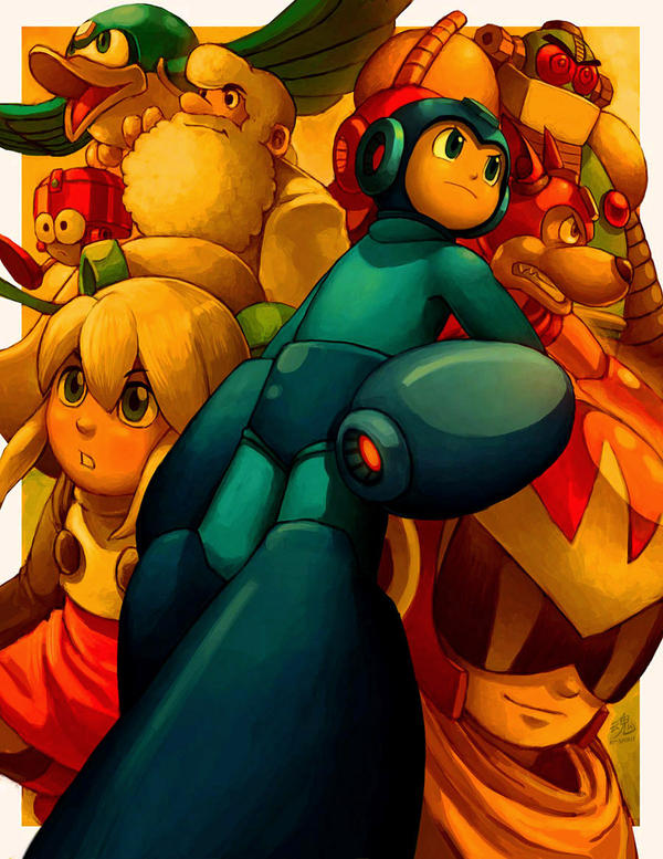 Mega Man by Ry-Spirit
