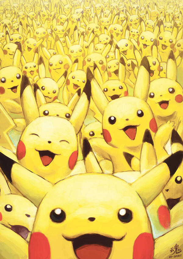 Wild Pikachus Appear by Ry-Spirit