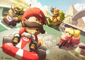 Mario Kart: Wheels of Fury by Ry-Spirit