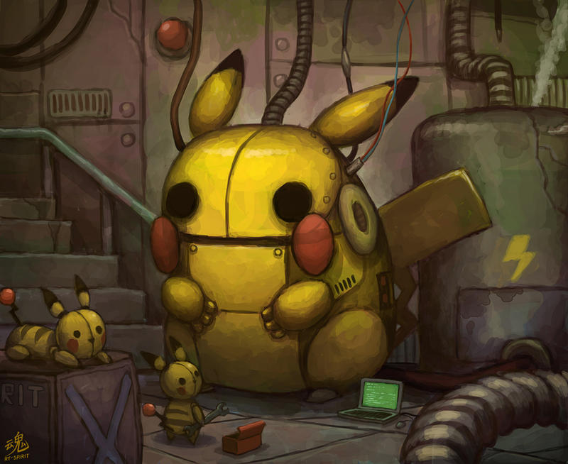Making Mechachu by Ry-Spirit