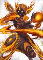 Goddess of Fire by Ry-Spirit