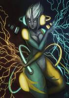 Goddess of Thunder by Ry-Spirit