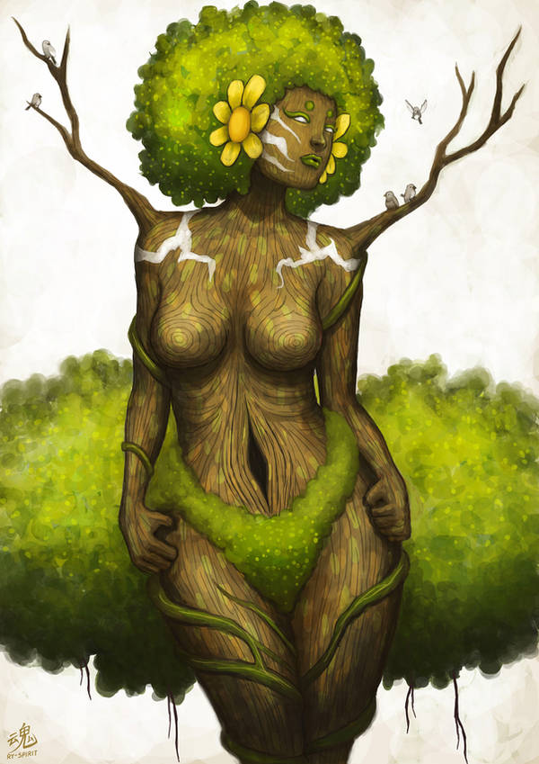 Goddess of Earth by Ry-Spirit