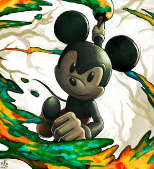 This artwork was painted by Mickey