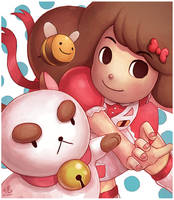 Bee and PuppyCat by Ry-Spirit