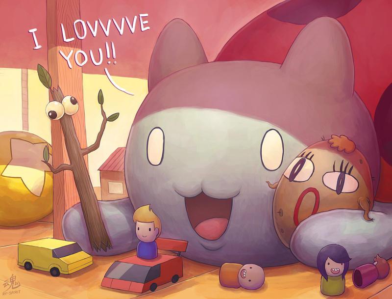 Catbug's Playtime by Ry-Spirit