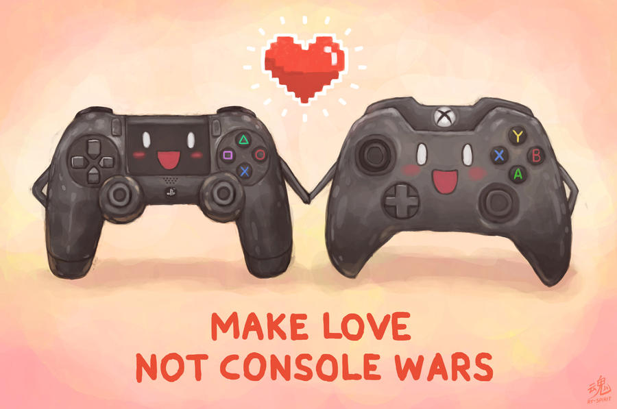 Make Love, Not Console Wars by Ry-Spirit