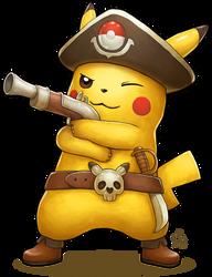 Captain Pikachu by Ry-Spirit