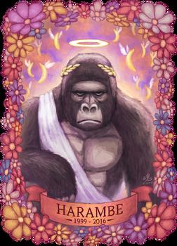 Harambe by Ry-Spirit