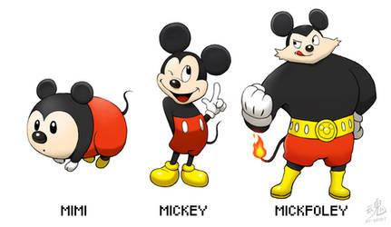 Mimi - Mickey - Mickfoley (Old design)