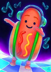 Dancing Hot Dog