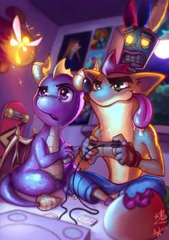 Spyro vs Crash by Ry-Spirit