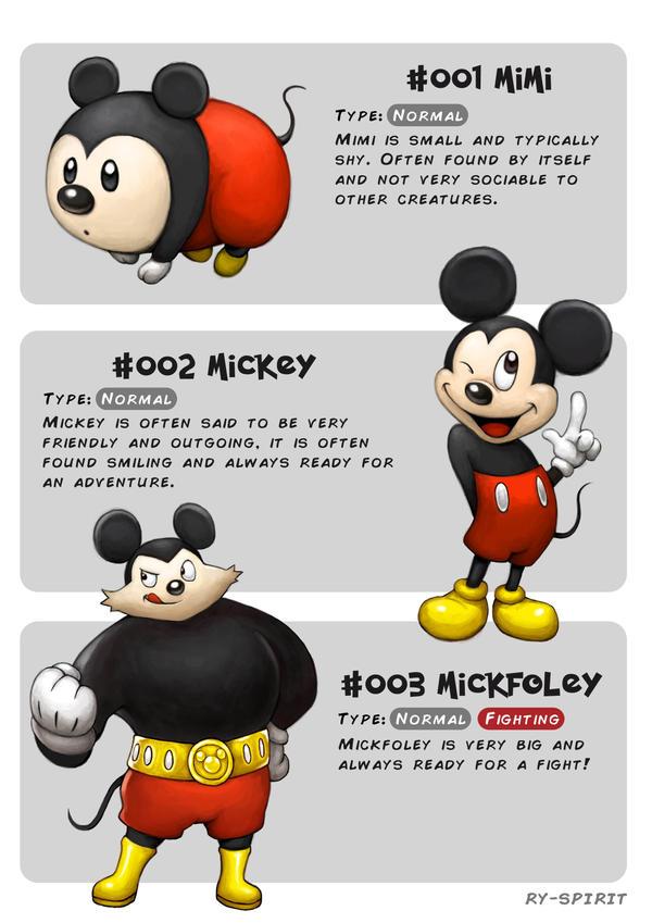 #001 Mimi - #002 Mickey - #003 Mickfoley by Ry-Spirit