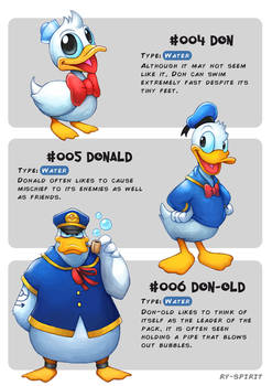 #004 Don - #005 Donald - #006 Don-old