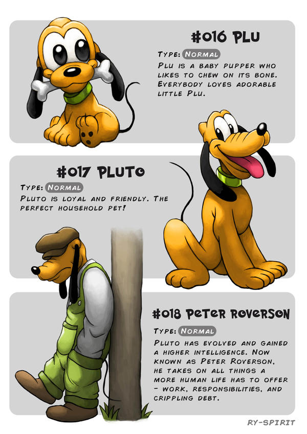 #016 Plu - #017 Pluto - #018 Peter Roverson by Ry-Spirit