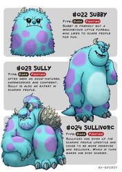 #022 Subby - #023 Sully - #024 Sullivorc by Ry-Spirit
