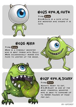 #025 Eye.M.Cute - #026 Mike - #027 Eye.M.Scary