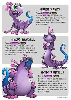 #028 Randy - #029 Randall - #030 Ranzilla