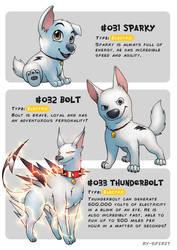 #031 Sparky - #032 Bolt - #033 Thunderbolt